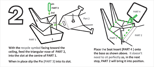 cardboard chair instructions. Exellent Instructions Assembly Step 2  Teachers Parents And Children Can Assemble Zeppochair  Together Using Folds Slots Throughout Cardboard Chair Instructions E